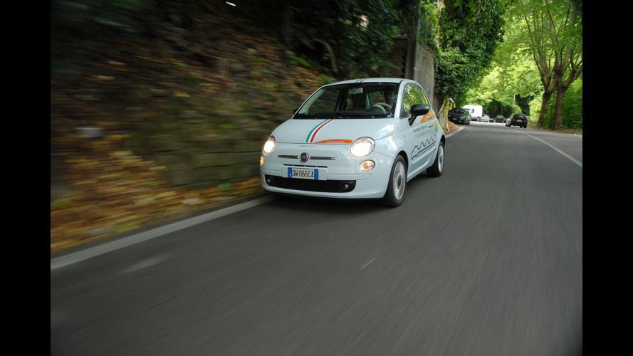 Un giro in città con la Fiat 500 elettrica