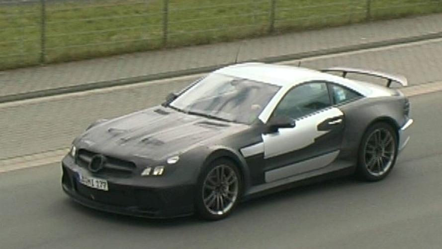 Mercedes SL65 AMG Black Series Spy Video