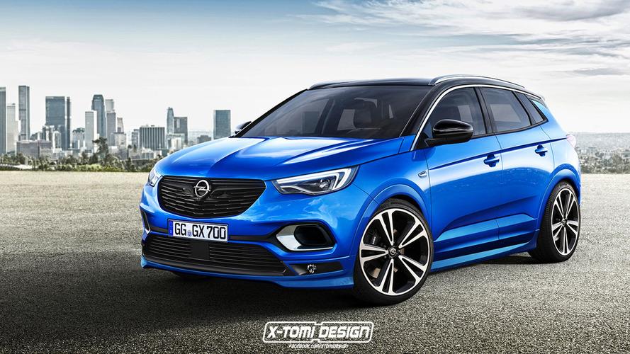 OPC dokunuşlu Opel Grandland X son derece ateşli görünüyor