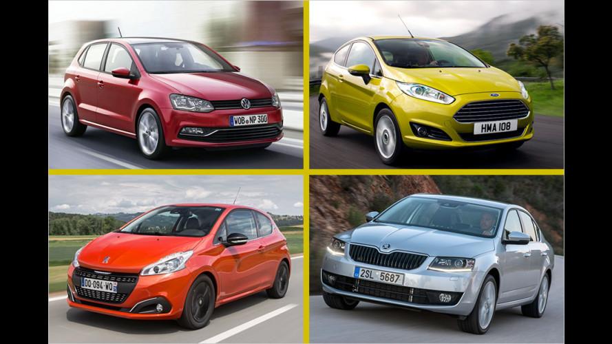 Die meistverkauften Automodelle in Europa 2016