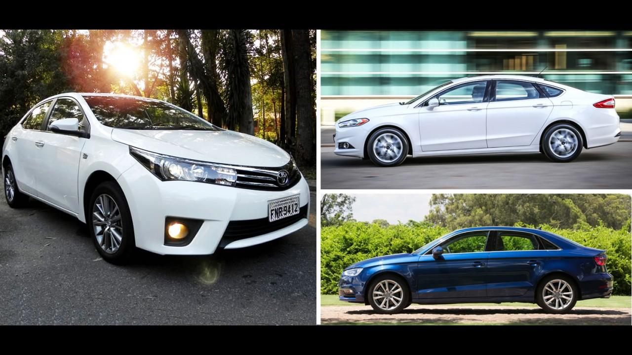 Garagem CARPLACE #5: Corolla Altis, A3 Sedan ou Fusion 2.5?