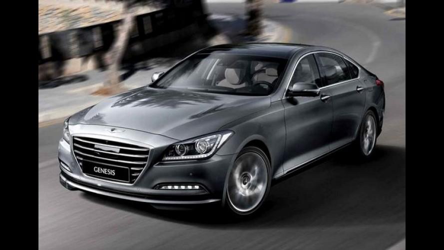 """Hyundai Genesis 2014 chega com tecnologias inéditas e """"Escultura Fluida 2.0"""""""