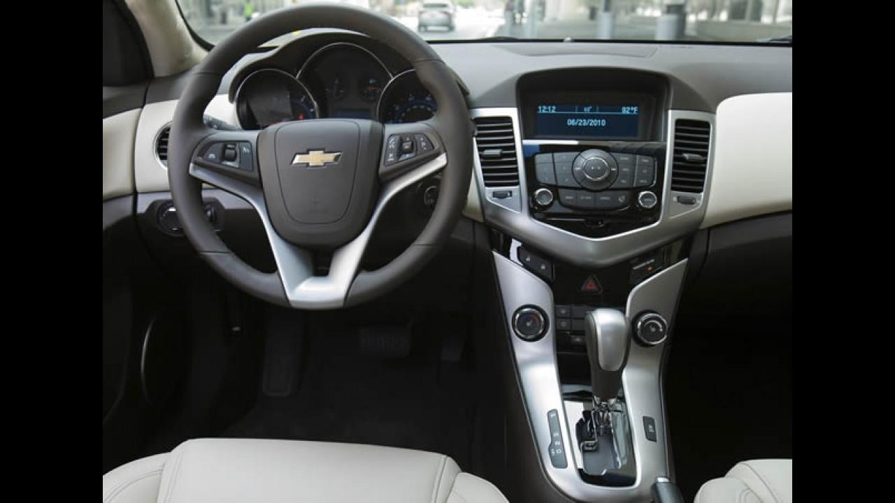 Preços do Chevrolet Cruze LT: câmbio manual por R$ 67.900 e automático por R$ 69.990