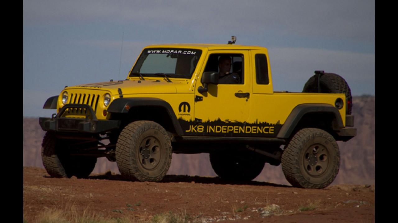 Jeep Wrangler vira picape em pacote de transformações da Mopar