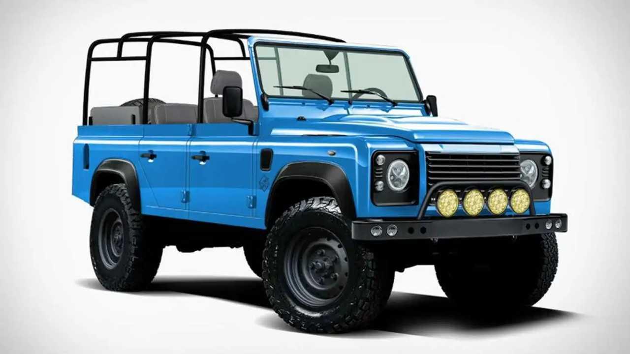 Este Land Rover Defender es en realidad un Jeep Wrangler
