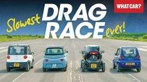 Citroen Ami, Renault Twizy und zwei andere E-Zwerge im Drag Race