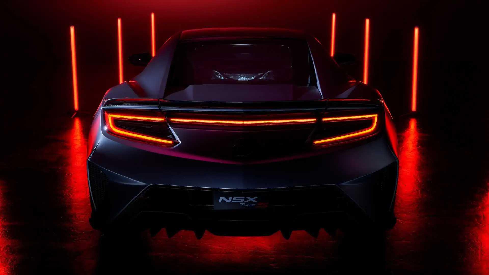 Vista trasera del Acura NSX Type S 2022