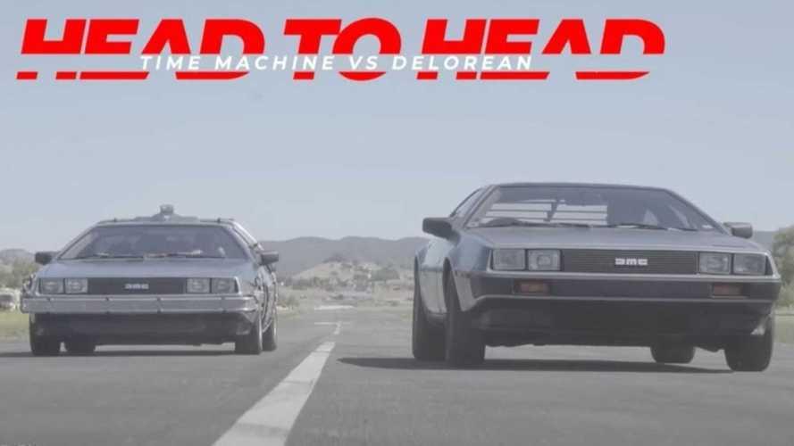 DeLorean time machine drag races stock DMC DeLorean