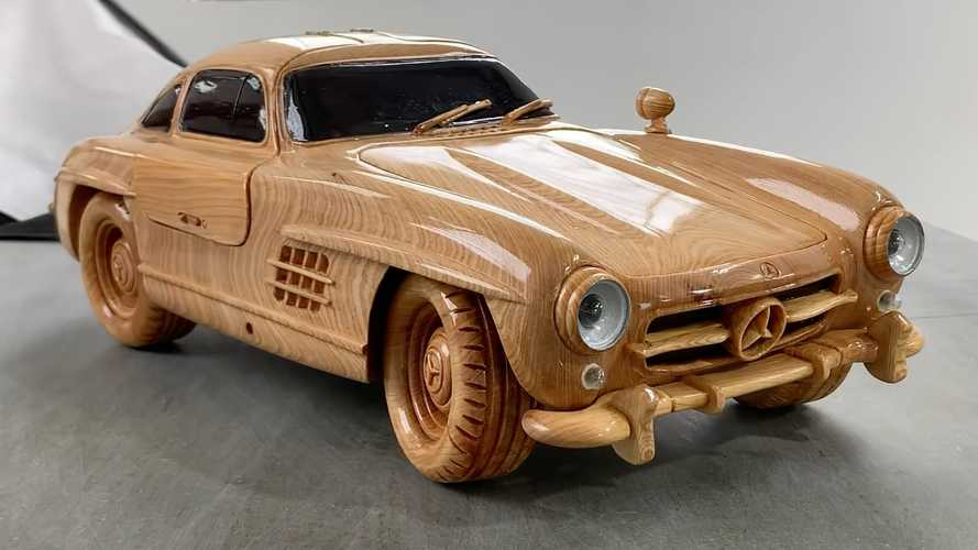 Woody Mercedes 300 SL With Functional Gullwing Doors Is For Sale