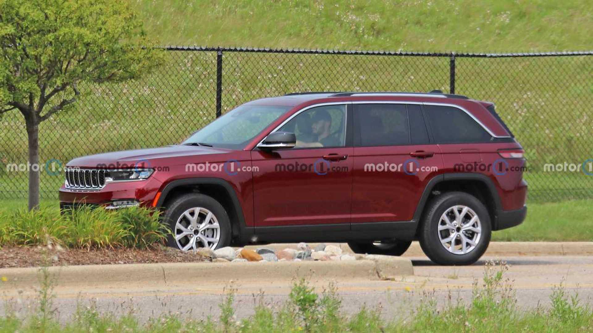 Foto espía sin camuflaje de dos líneas del Jeep Grand Cherokee 2022