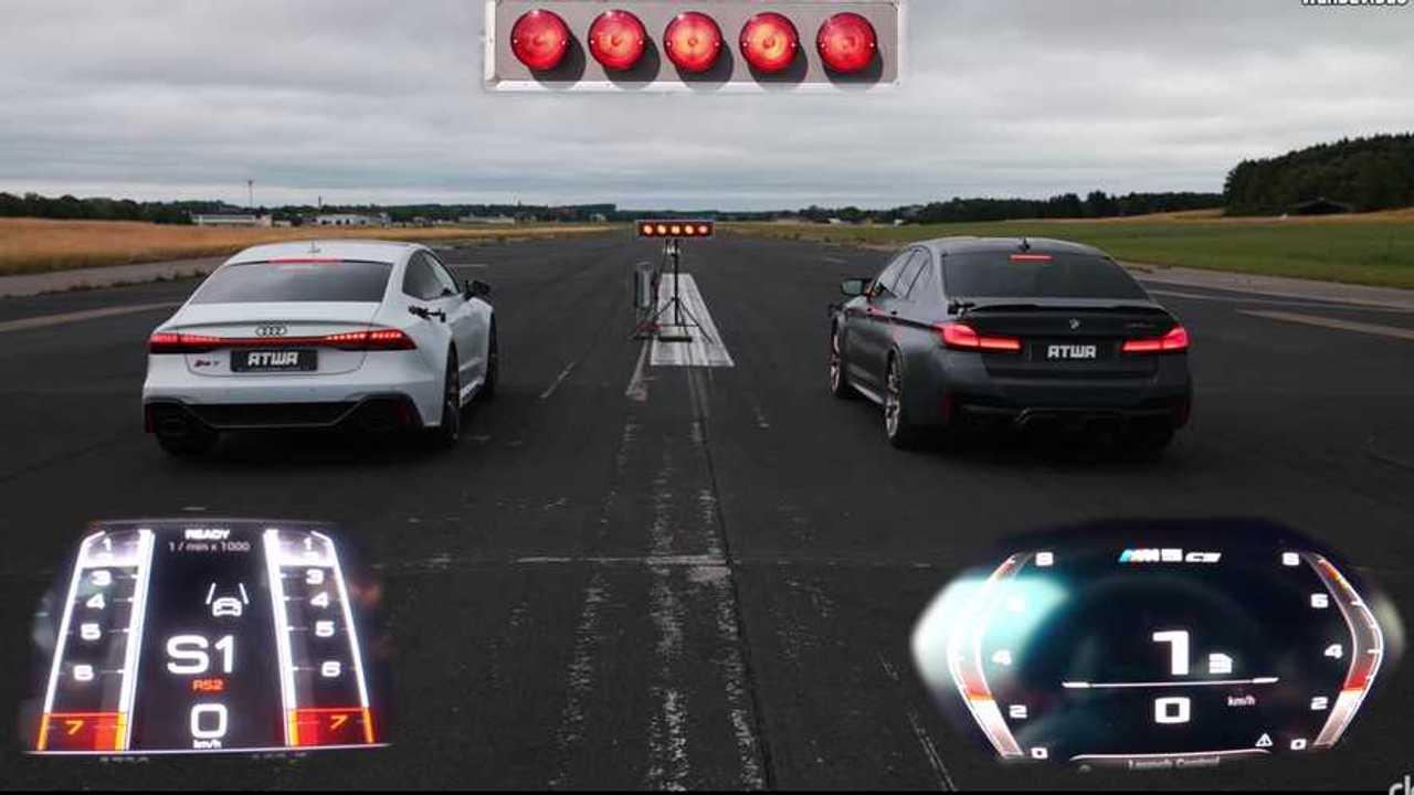 BMW M5 CS Versus Audi RS7 Drag Race