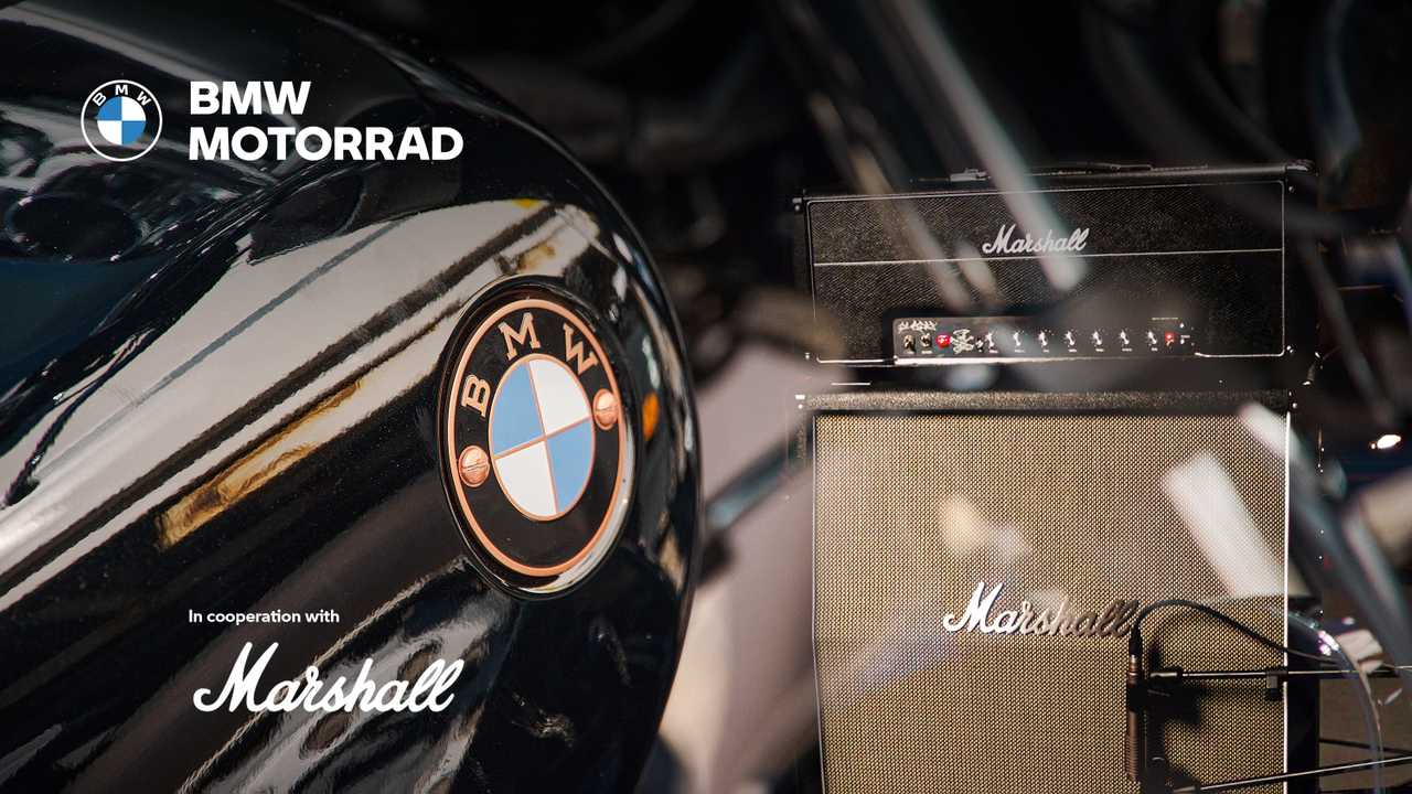 BMW Motorrad parners with Marshall Amplification