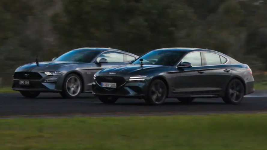 Mustang GT Faces Off Against Genesis G70 In Series Of Drag Races