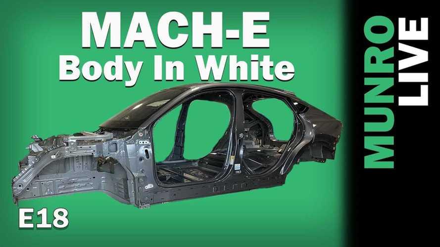 Munro Live Checks Out Ford Mustang Mach-E's Massive Body In White