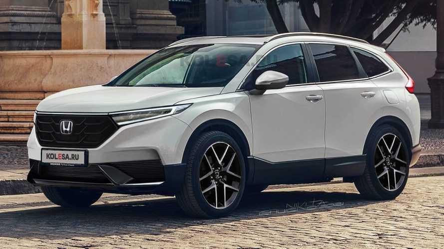 Novo Honda CR-V 2023 adianta evolução visual em projeção