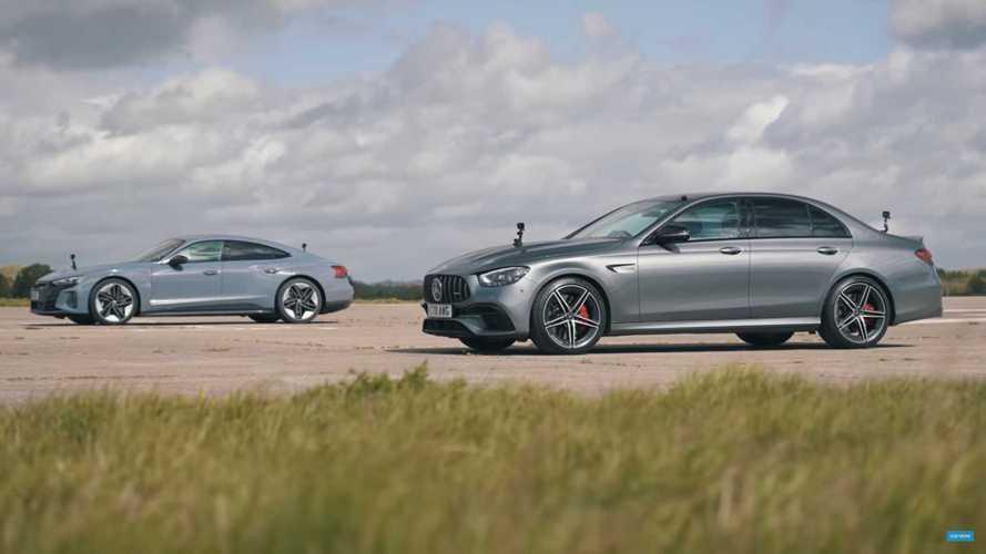 Audi RS E-Tron GT Shocks Mercedes-AMG E63 S In Close Drag Races