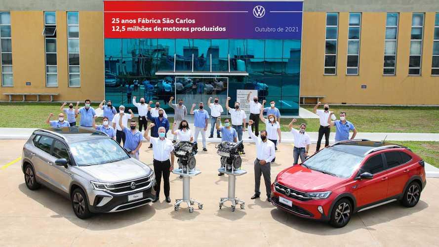 VW alcança 12,5 milhões de motores produzidos em São Carlos