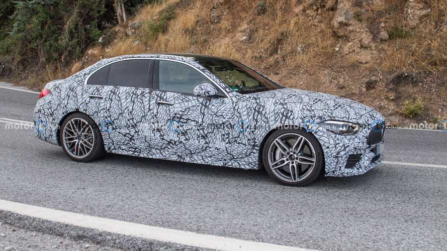 2022 Mercedes-AMG C45 Sedan Spied Up Close With Four-Cylinder Power