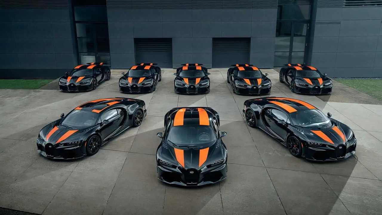 Bugatti Chiron Super Sport 300+ aufgereiht