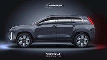 Hyundai Ioniq 7: Rendering auf Basis eines neuen Teaser-Bilds