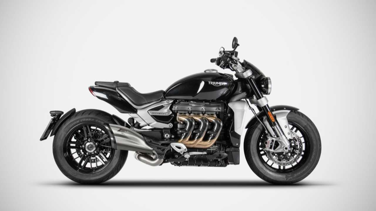 Zard Stainless Steel Slip-On For Triumph Rocket 3
