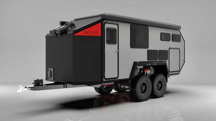 Bruder EX-8, así es esta llamativa caravana todoterreno autónoma