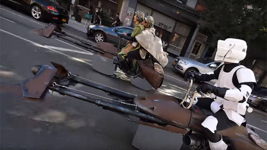 New York Nerds Win Halloween With Speeder Bike Costume Build