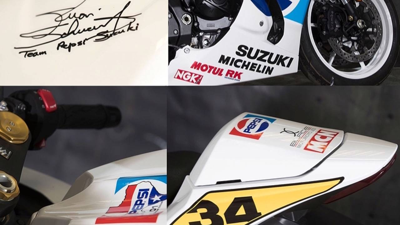 Some of the more close-up details on the limited edition Gixxer