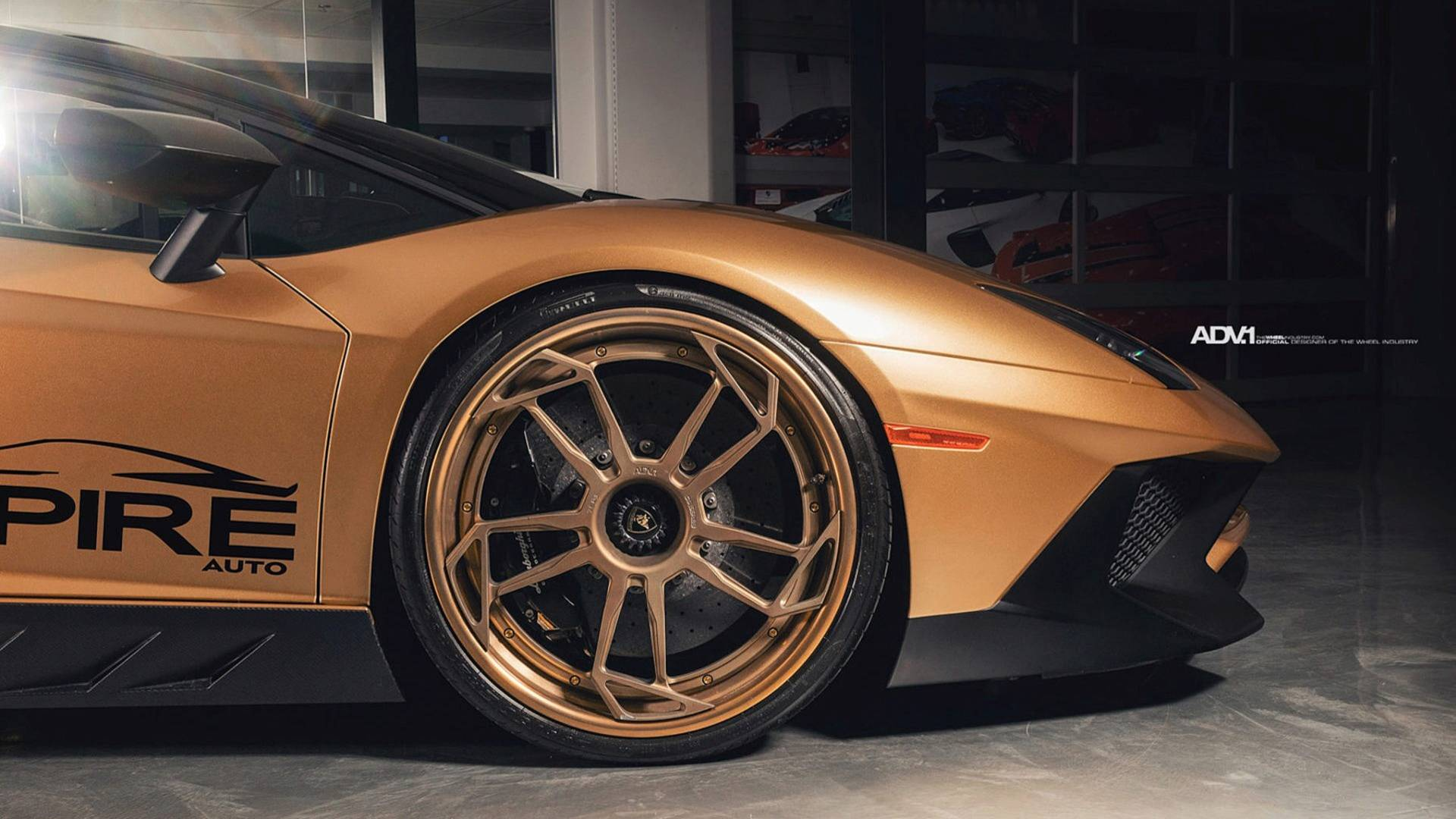 Theres Flashy And Then This Matte Gold Lambo Aventador