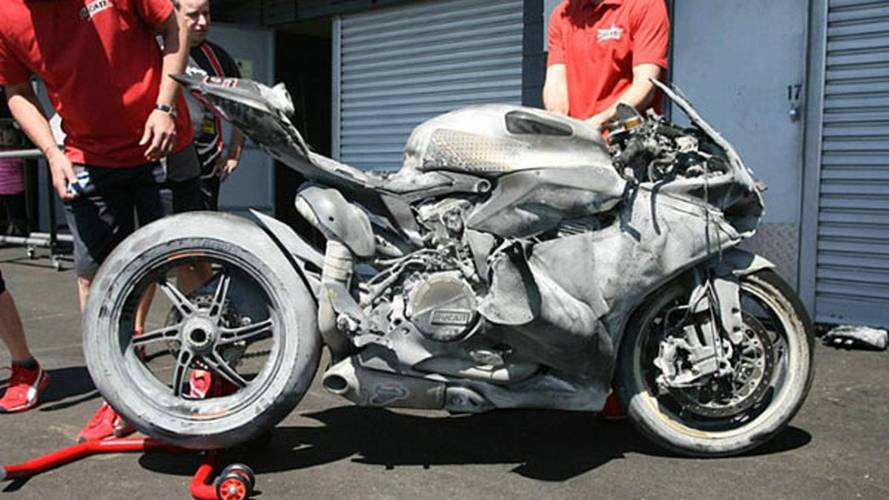 What a torched Panigale looks like