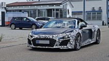 2019 Audi R8 Spyder spy photos
