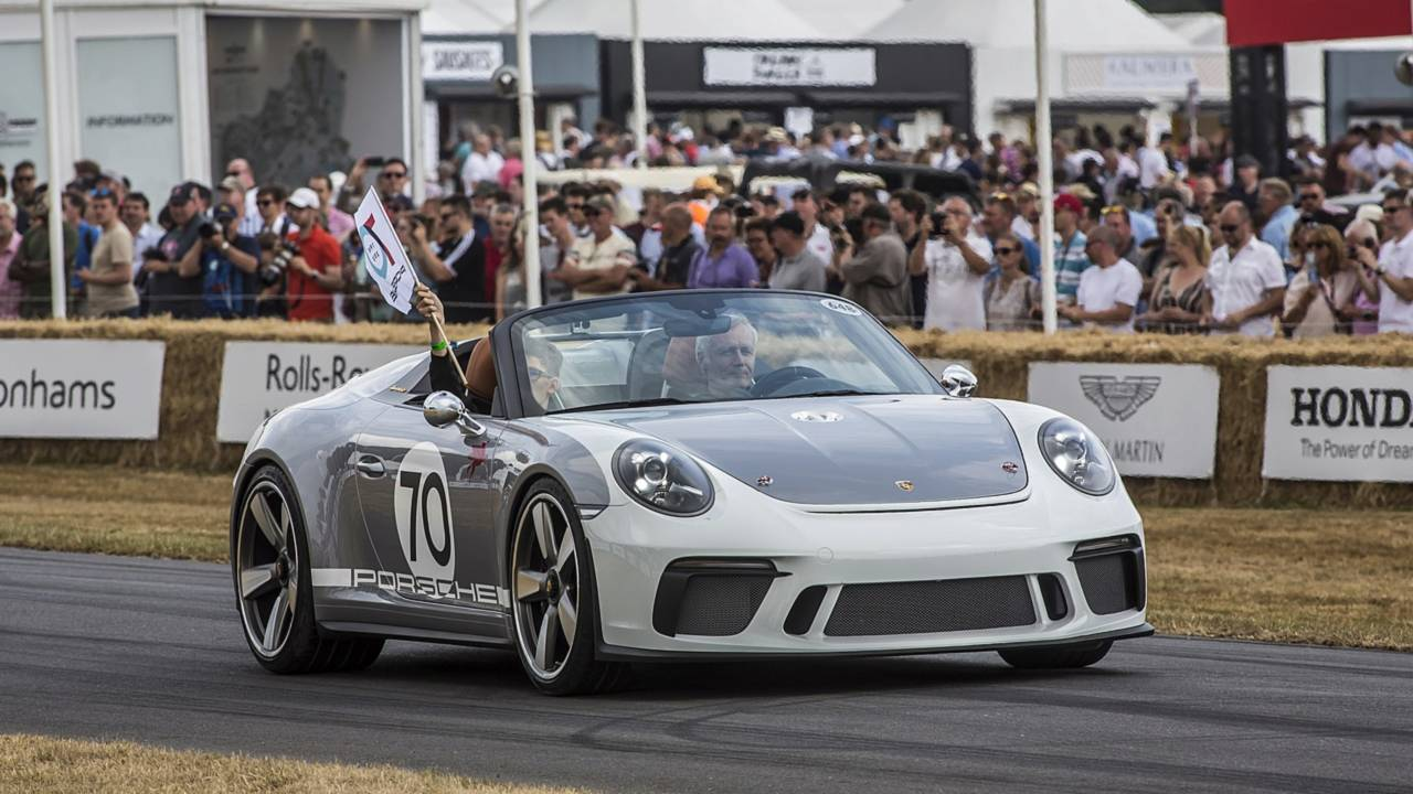 Porsche 911 Speedster concept at the 2018 Goodwood Festival of Speed