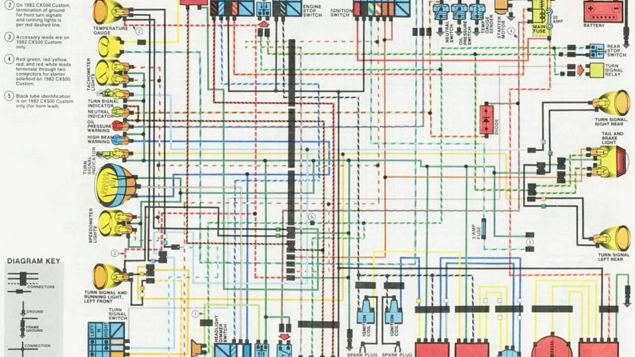 Wiring diagrams in full color make nice and useful posters