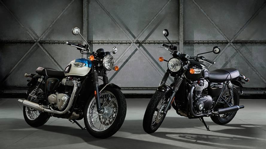 Triumph Unveils Bonneville T100, T100 Black