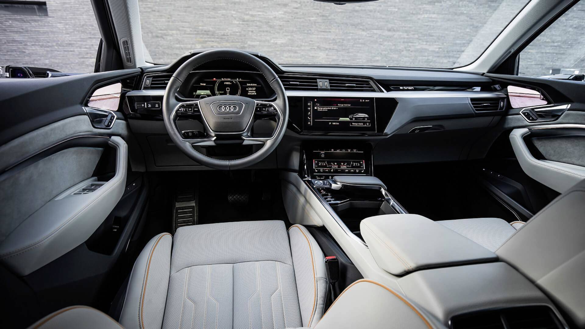 Audi E Tron Reveals High Tech Interior With Five Screens