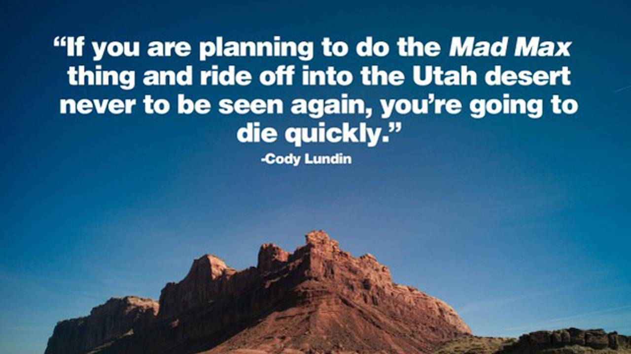 Cody Lundin on surviving by riding