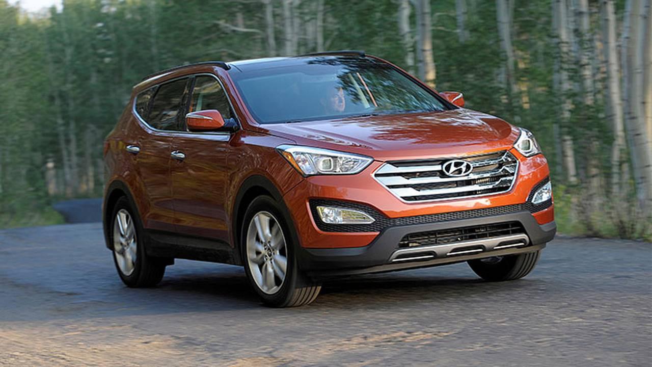 2014 Hyundai Santa Fe Sport on the road