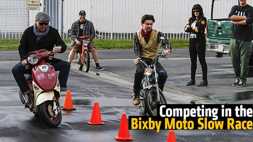 Competing in the Bixby Moto Slow Race