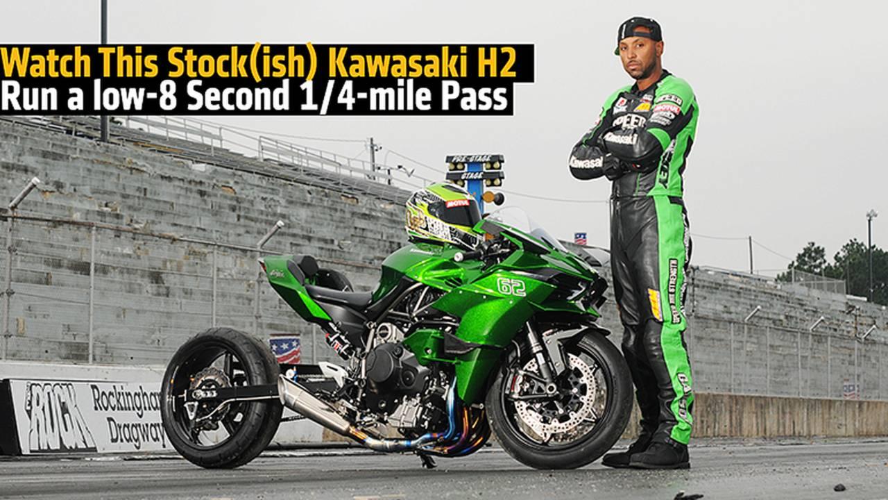 Watch This Stock(ish) Kawasaki H2 Run a low-8 Second 1/4-mile Pass