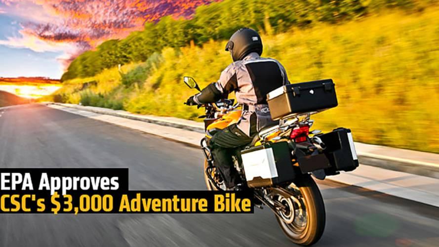 EPA Approves CSC's $3,000 Adventure Bike
