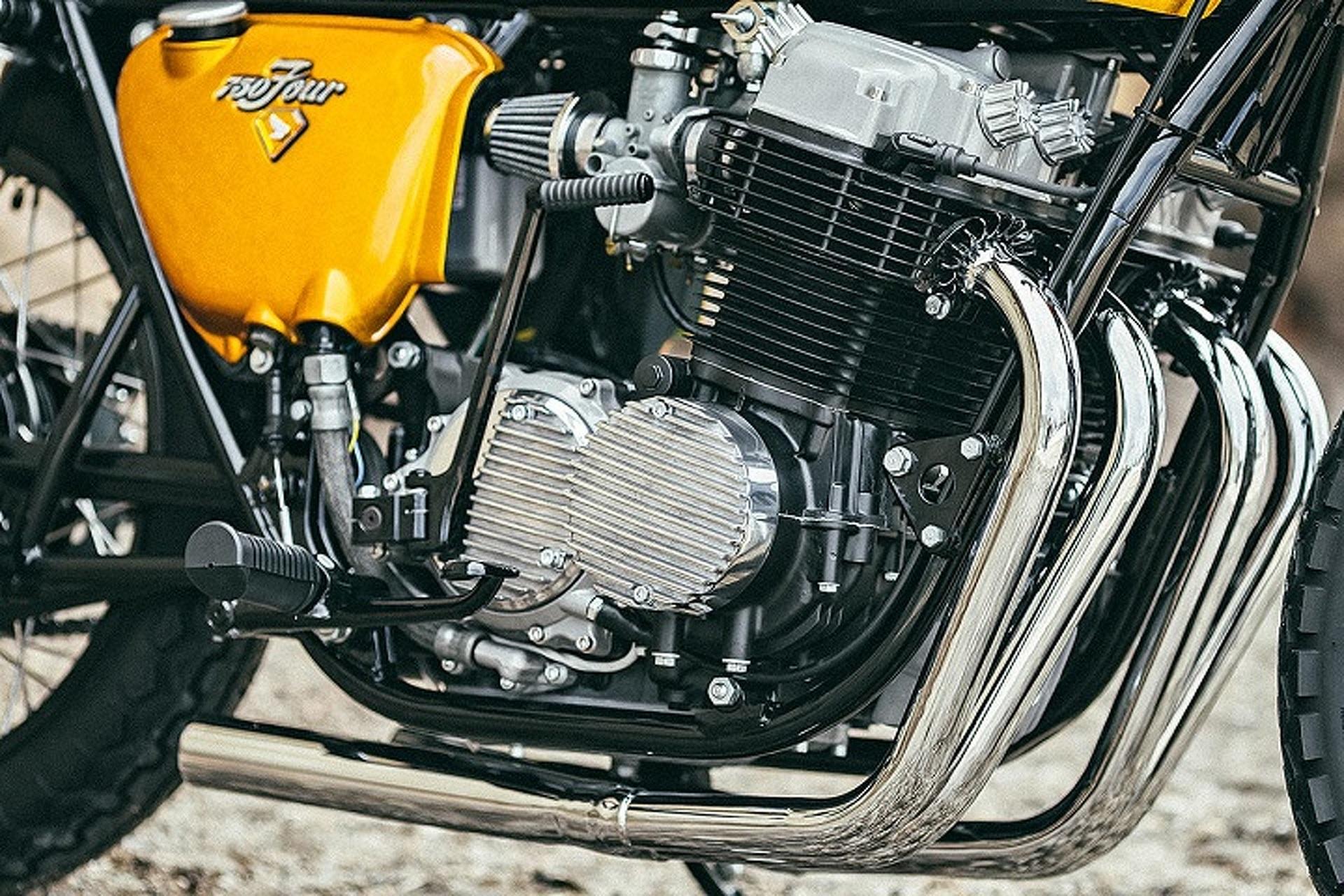 Custom 1971 Honda Cb750 Motorcycle Is A Golden Beauty Honda CBR1000F Wiring  1971 Honda Cb750 Simple Wiring