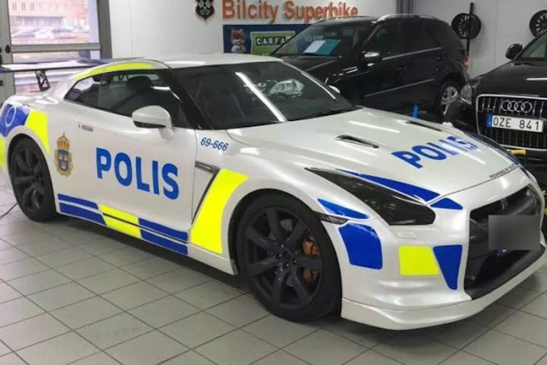 a nissan gt-r police car is on the loose | motor1 photos
