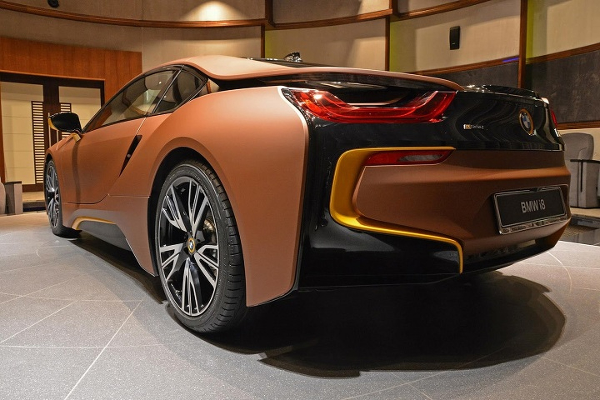 What Do You Think Of This Brown And Yellow Bmw I8