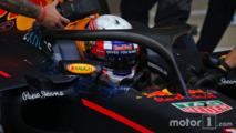 Pierre Gasly, pilote d'essais Red Bull Racing RB12 avec le halo