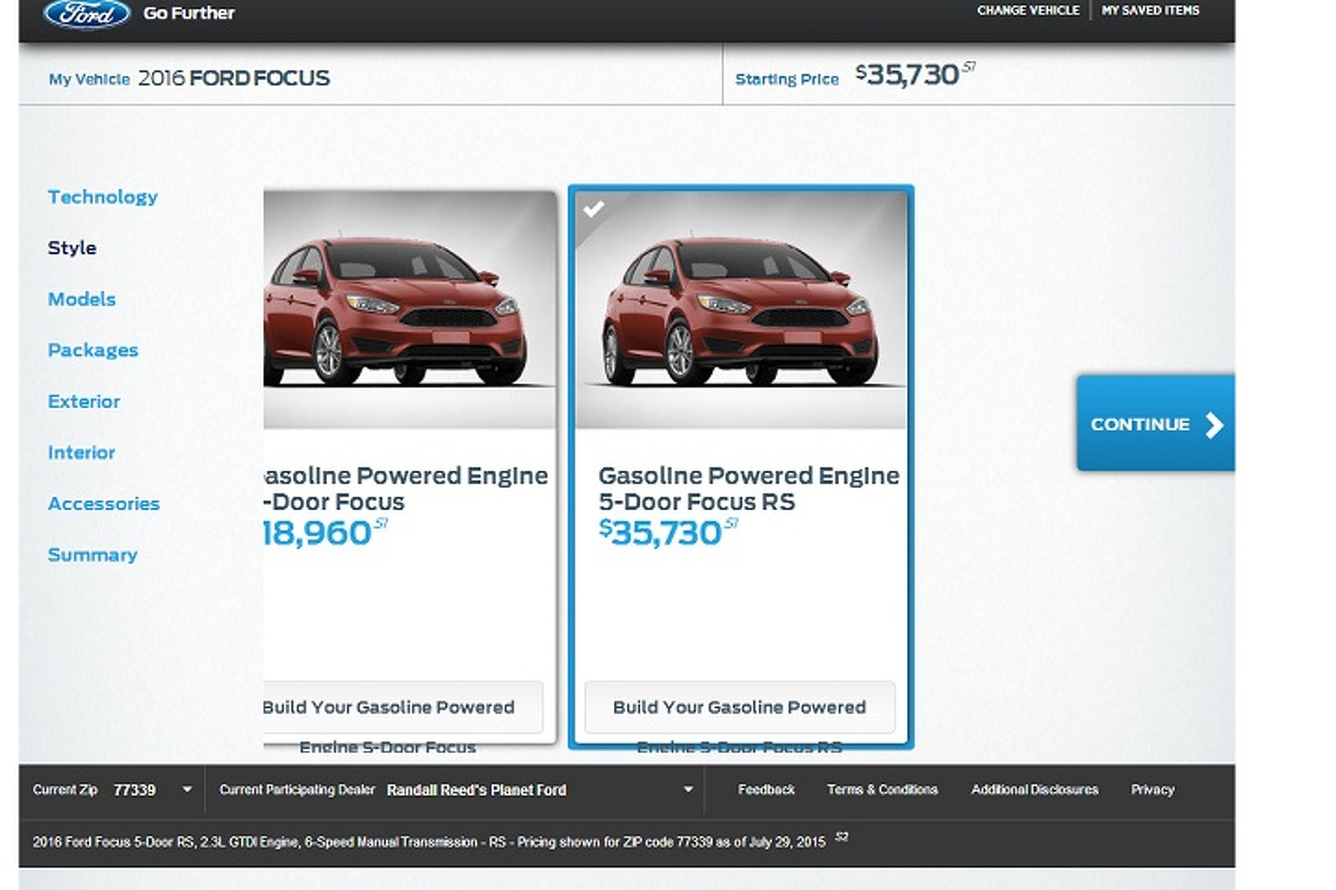 Ford Accidentally Leaked Focus RS Pricing