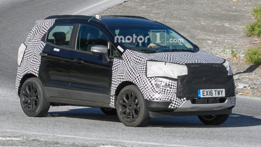 Ford EcoSport facelift spied hiding minor changes