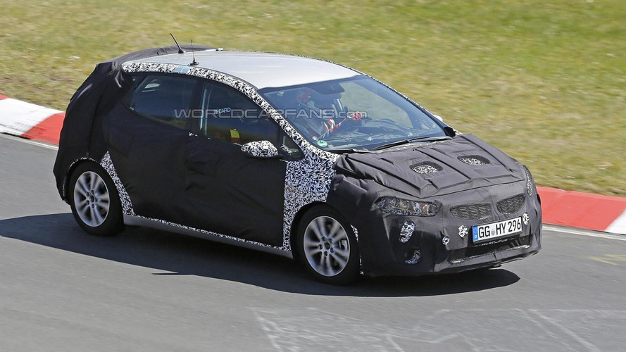 Kia cee'd facelift with Recaro seats and roll cage spied testing on the 'Ring