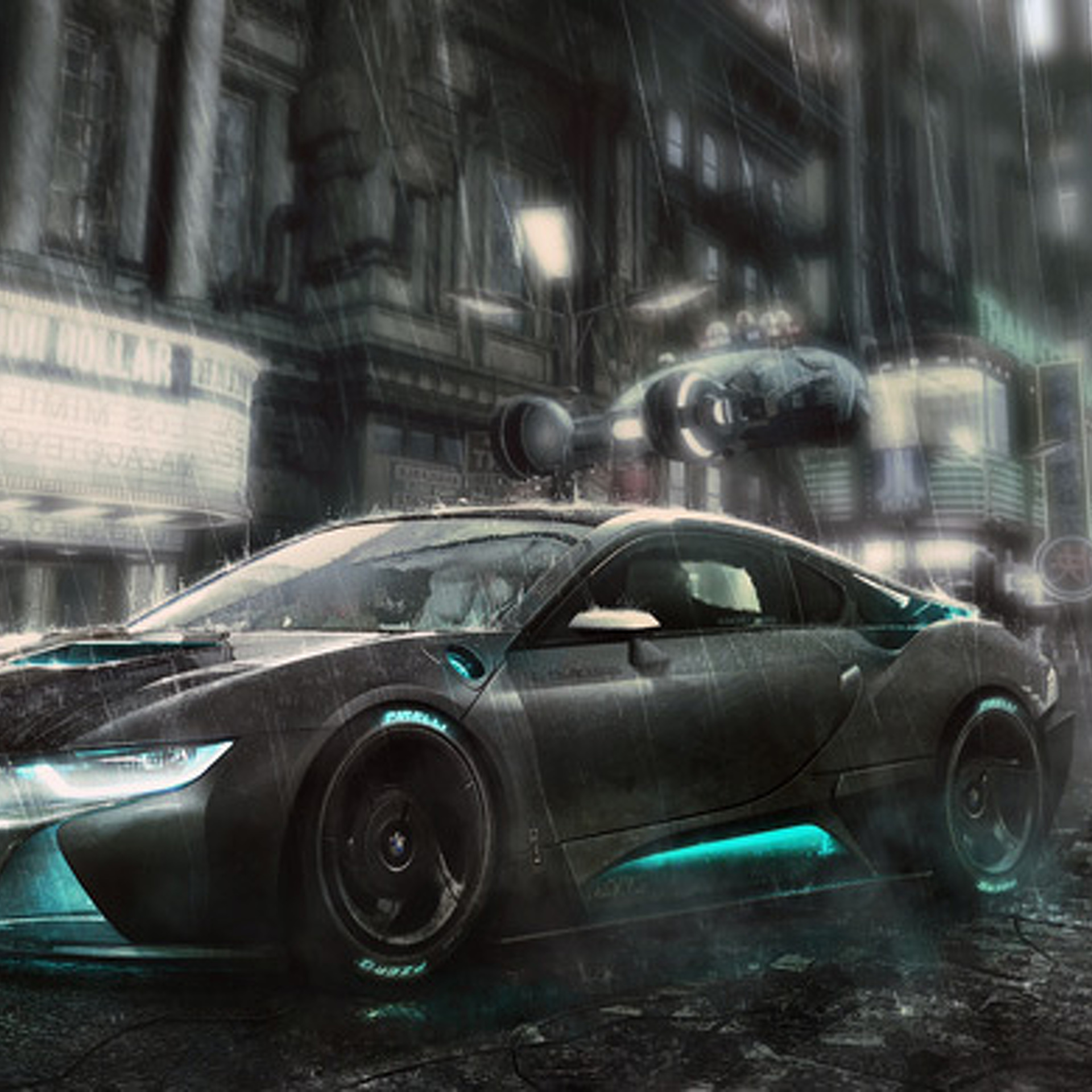 Stunning Render Drops the BMW i8 into Blade Runner [w/Video]