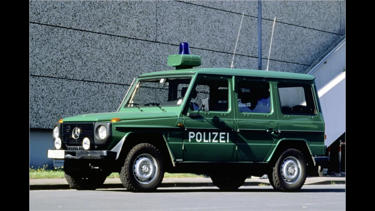 35 Jahre G-Klasse: Ein Mercedes im Polizeidienst