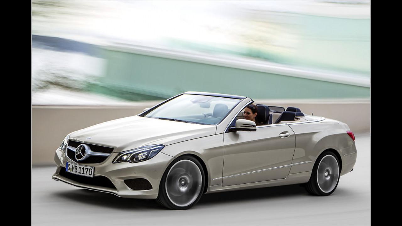 Mercedes E-Klasse-Cabriolet (20 Sekunden, bis 40 km/h)